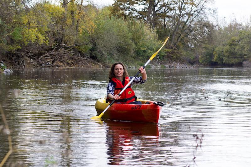 Randonnée en canoë kayak sur la loire
