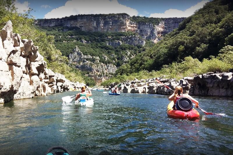 Descente en canoë kayak depuis vallon pont d'arc - 24km