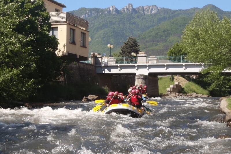 Rafting discovery : axat / saint-martin lys