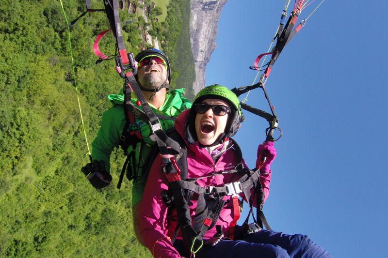 paragliding baptism Long term - Contamines Montjoie