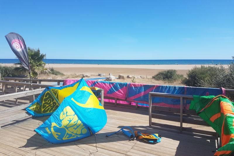 location matériel kitesurf Narbonne plage ou Gruissan