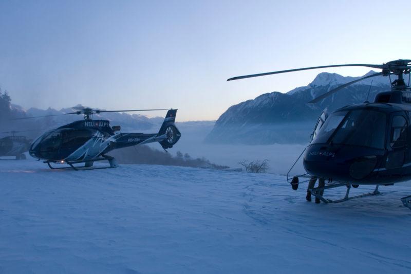 Safari ski en hélicoptère : les meilleures stations avec un guide