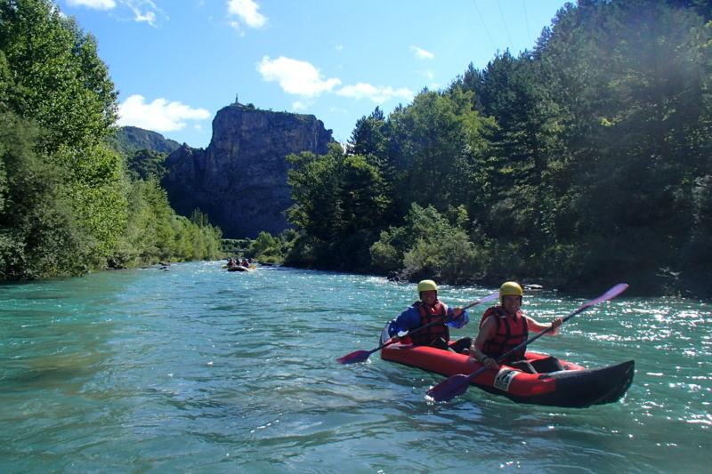Descente intégrale du Verdon en Rafting ou Cano'raft