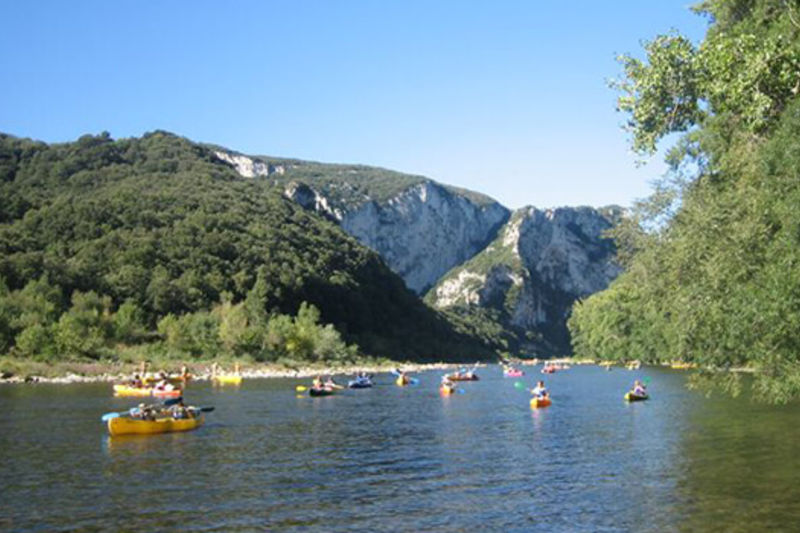 Canoeing from Sampzon - 12 km