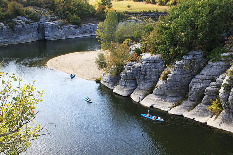 Descente de l'Ardèche depuis Pradons en canoe - 6km
