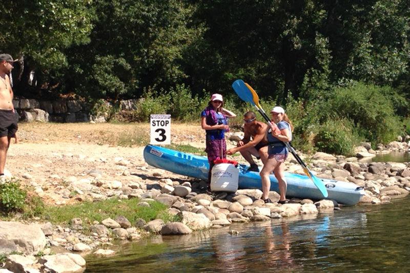 Descente en canoe de l'Ardèche au départ de Ruoms - 6km