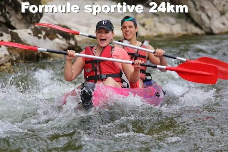 Descente en canoë sur l'Ardèche - Formule Sportive 24km