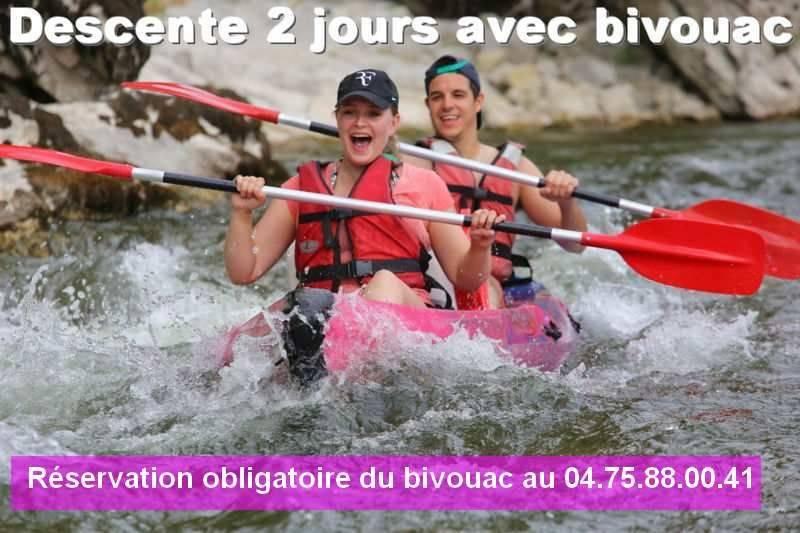 Formule Intégrale: Descente de l'Ardèche 2 jours en bivouac