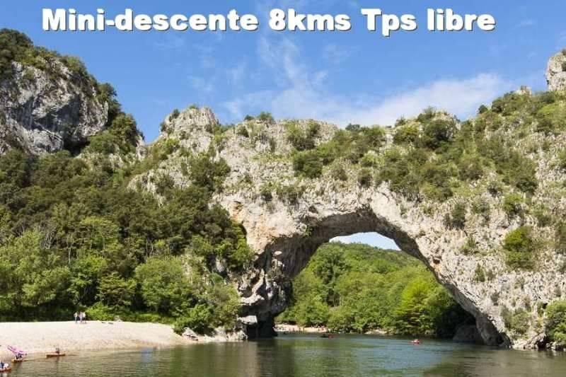 Mini descente de l'Ardèche en canoë 8km en Tps libre