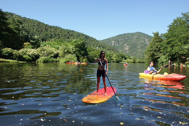 Initiation au stand up paddle sur l'Eyrieux