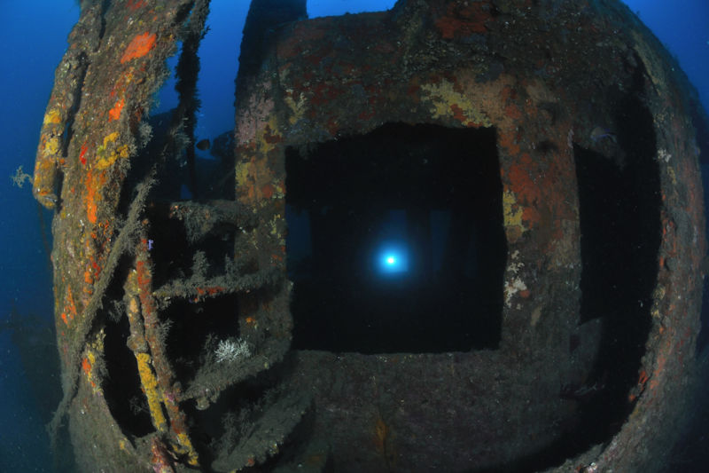 Wreck dive in Sainte-Maxime