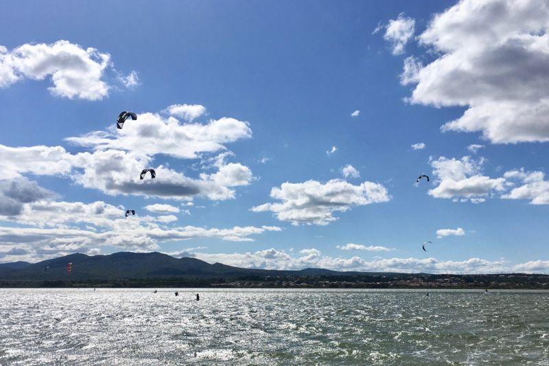 Stage de kitesurf débutant à Leucate - La Palme