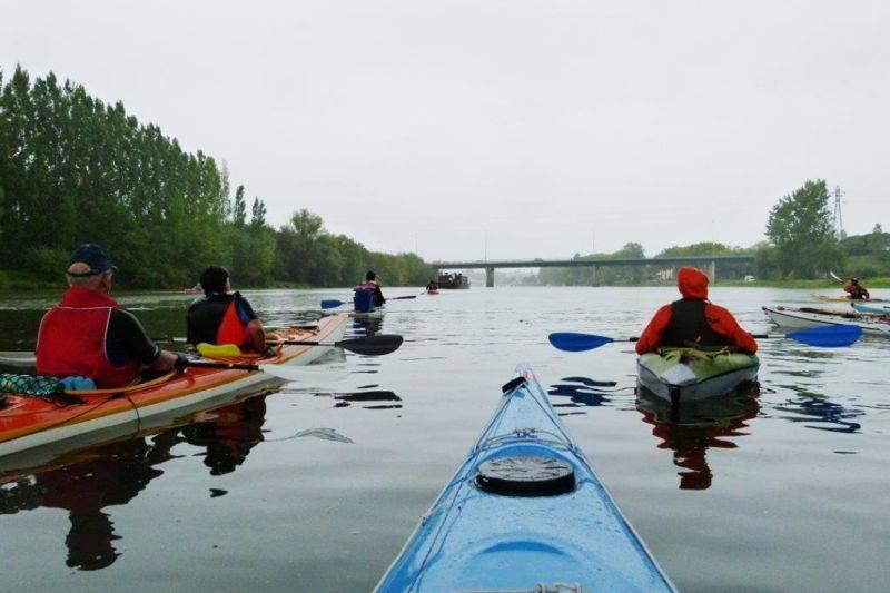 Randonnées nautiques en canoes- kayaks  et trek de loire avec bivouac