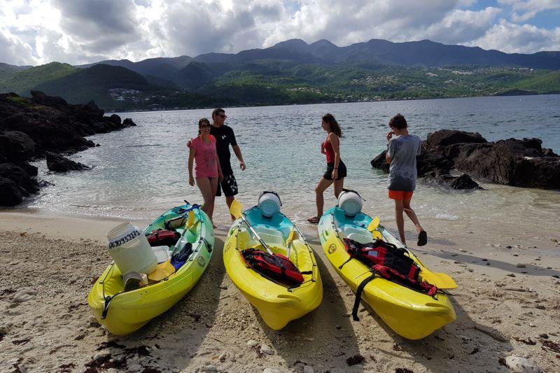 """"""" 3H """"   location kayak pour La reserve COUSTEAU 25€/pers"""
