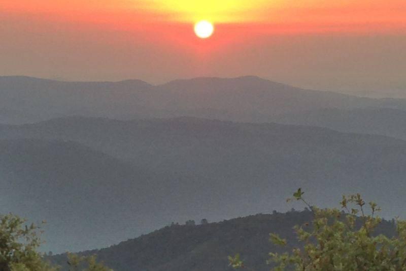 Lever de soleil en Cévennes