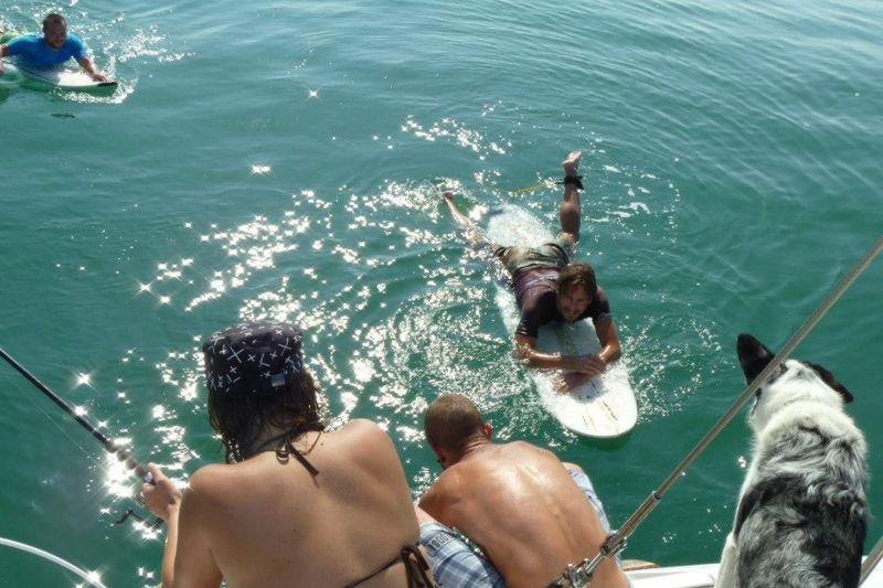 Boat trip surf dans les Landes