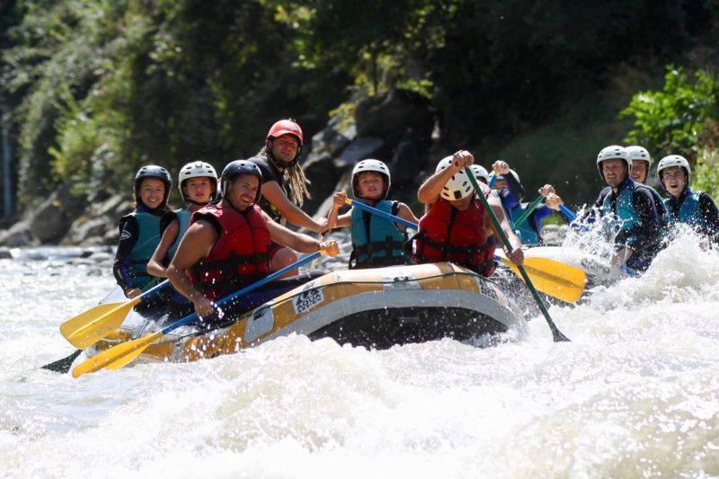 Rafting, parcours sensations, demi-journée