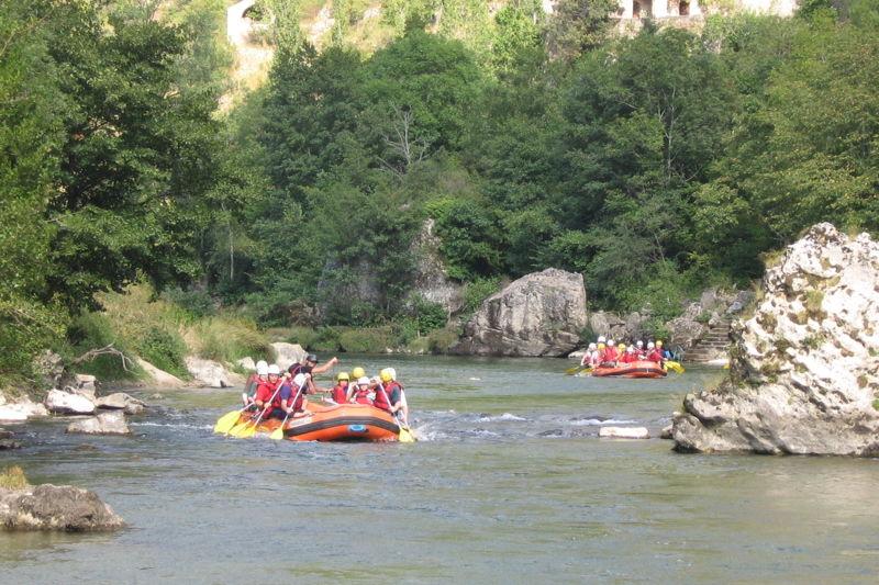 Descente en rafting dans les Gorges du Tarn