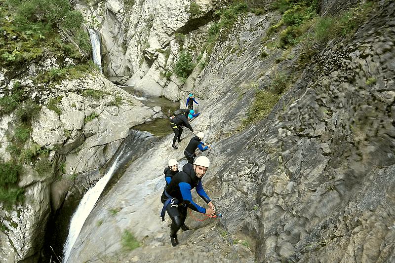 Canyoning dans les gorges du Llech