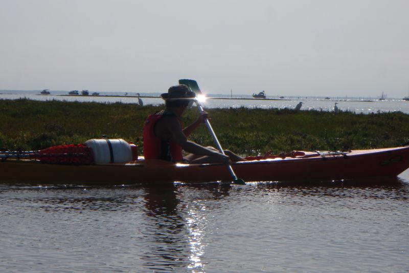 Balade en kayak au coucher de soleil sur le Bassin d'Arcachon