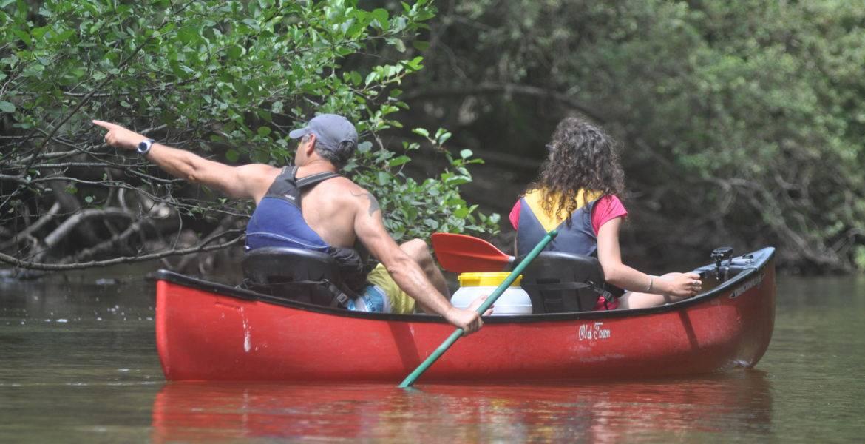 Descente journée avec moniteur en canoë sur la Leyre