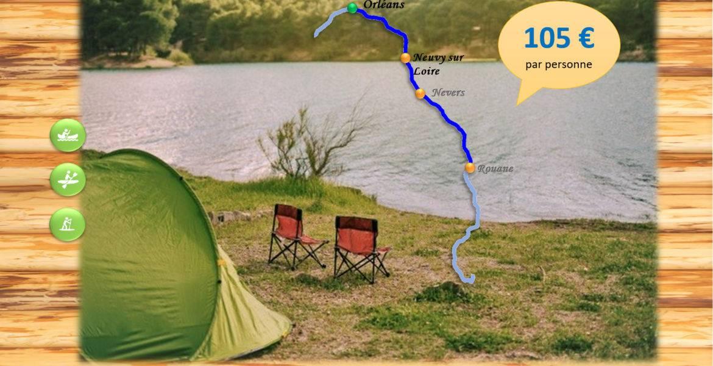 Bivouac 4-5 jours - Neuvy sur Loire - 100 km