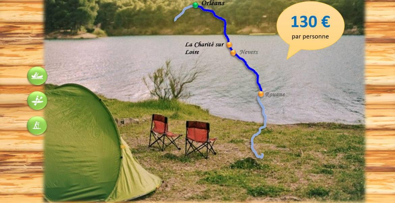 Bivouac 6-7 jours - La Charité sur Loire - 140 km