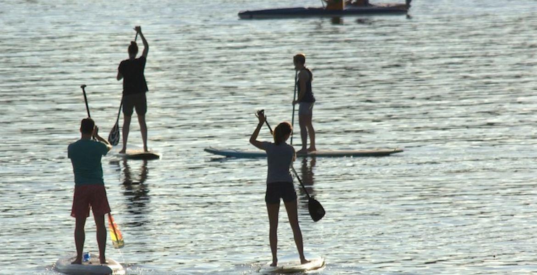 Descente en stand-up paddle près de Rouen