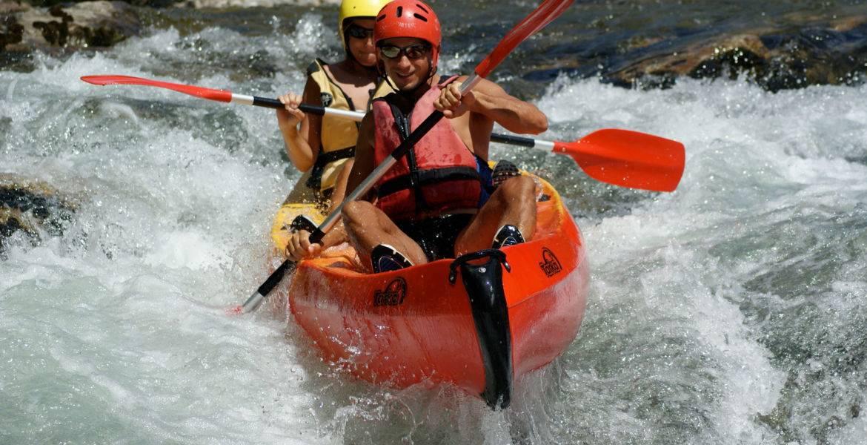 Sporting downhill Canoe Kayak on the Hérault 7km: 2h + 10 years