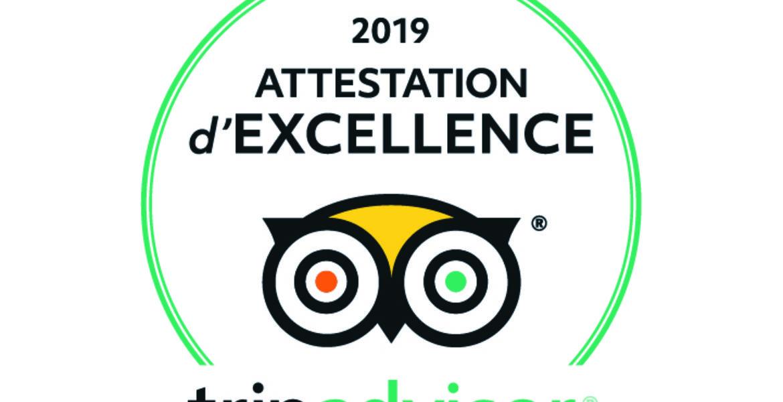 Attestation d'excellence Trip Advisor