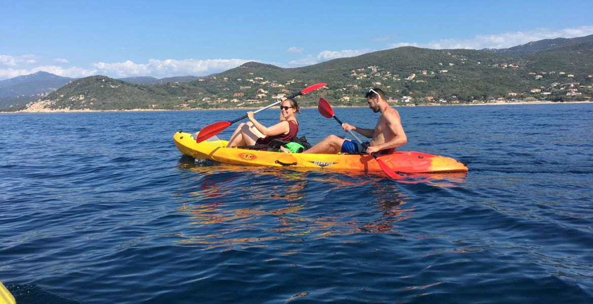 kayak rental Ajaccio, hourly, 1/2 day or full-day