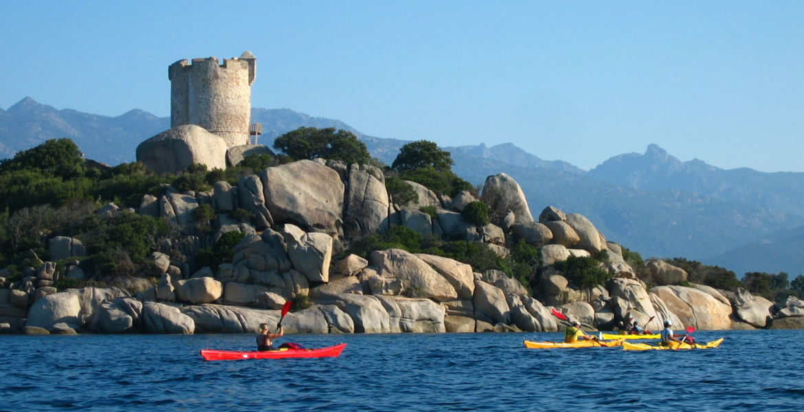 "Sport Stay for families in Corsica - 1 week ""Acqua Corsica"" : Sea-kayaking, hiking and canyoning from Ajaccio"