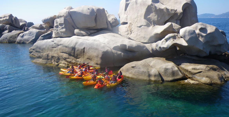 """Sortie encadrée kayak de mer 1/2 journée """"Presqu'île d'Isolella"""""""