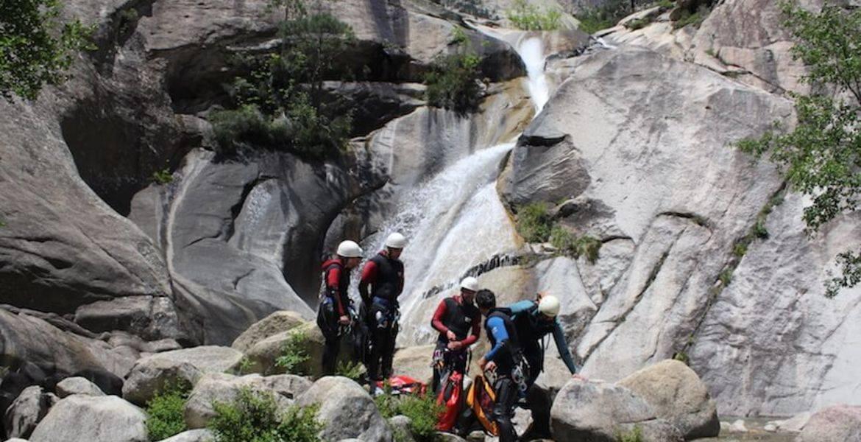 Canyoneering à purcaraccia - Bavella