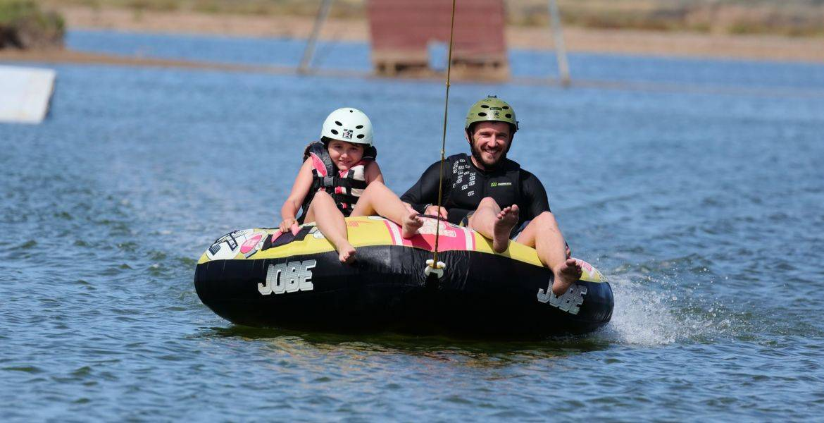 Towed buoy session on cablepark