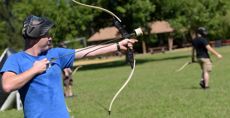 Archery tag à Angers-Marcé