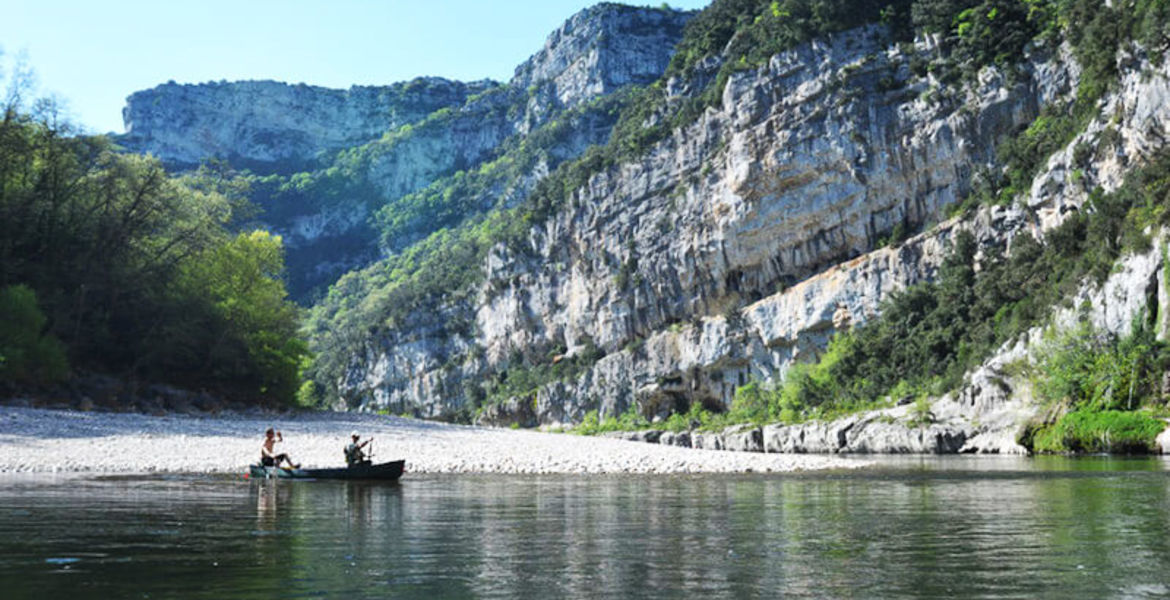 Canoeing down the Ardèche with Bivouac - 32km