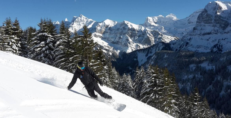 Cours privé snowboard à Champéry - Portes du Soleil - Valais - Suisse