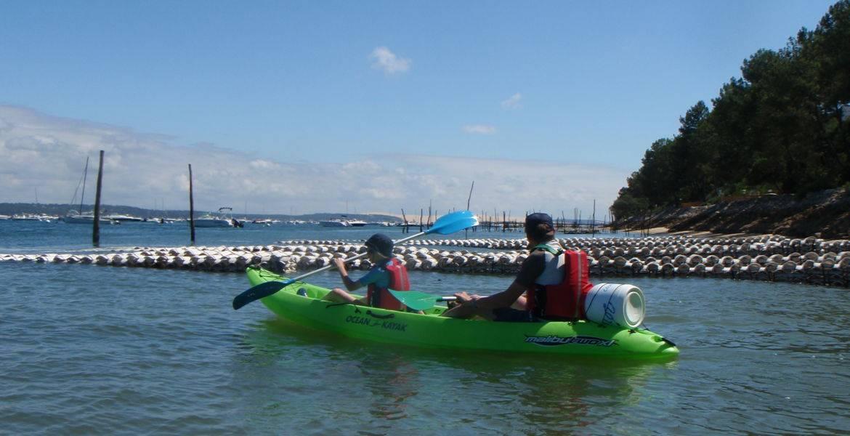 Balade en kayak à marée basse sur le Bassin d'Arcachon