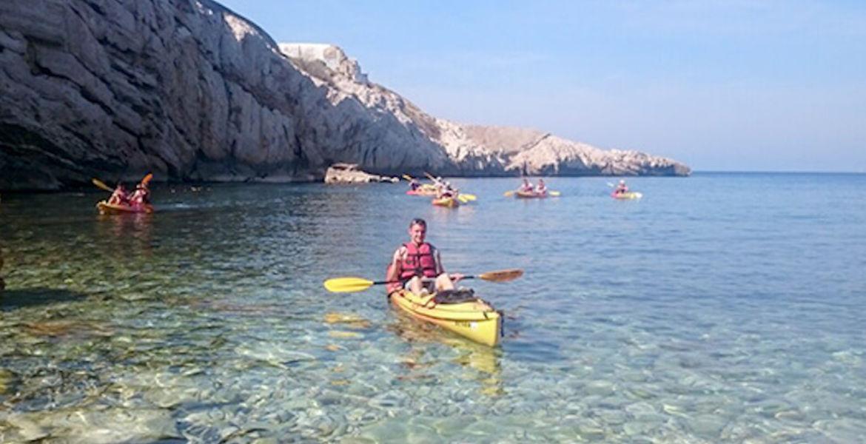 Balade en kayak avec guide sur la baie de Marseille