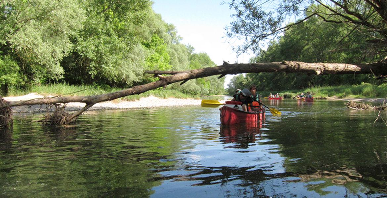 Randonnée en canoë-bivouac 2 demi journée - 20km