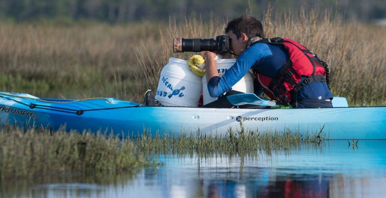 Vincent Chellé, animateur kayak environnement, photographe