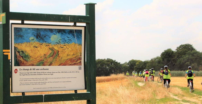 Team Building Van Gogh à Vélo - AUVERS S/O- Acc. TRANSILIEN !