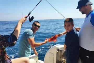 Pêche semi-hauturière et côtière au large du golfe de saint tropez