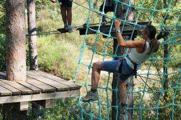 Adventure course with big zip line 300 m ! - from 10 yo / 1m30