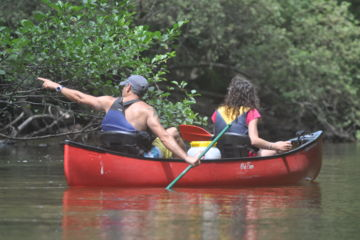 Day canoe trip with guide 14 km