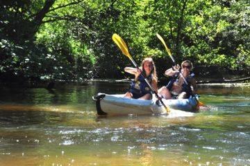 Journée, promenade en canoë sur la leyre 20 km moustey - belin
