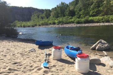 Descente en canoe de l'ardèche au départ de vallon  - 7km