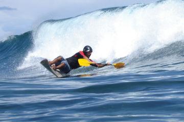 Wave-ski surfing