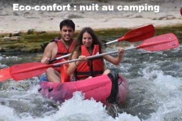 Canoë en ardèche : formule eco confort 24km + 8km avec nuit en camping